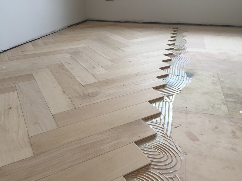 Supply and fit wood flooring wiltshire dorset hampshire large engineered herringbone parquet flooring installed by our team tyukafo