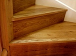 Stairs cladded with oak wood flooring in Wiltshire