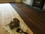 Wood floor staining - changing floor colours covering Andover - Eastleigh - Romsey - Southampton