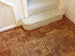 Parquet floor repairs - cork expansion strip replacement and then filled