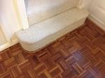 Parquet floor repairs - cork expansion strip replacement
