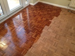 Parquet floor finishing with Bona primer classic