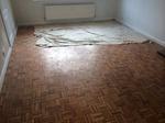 Parquet mosaic wooden floor sanding/restoration with repairs and refinishing Stockbridge