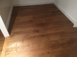 Ripped oak aged flooring installed in two bedrooms in  Winterslow