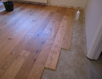 Wood flooring, floating installation