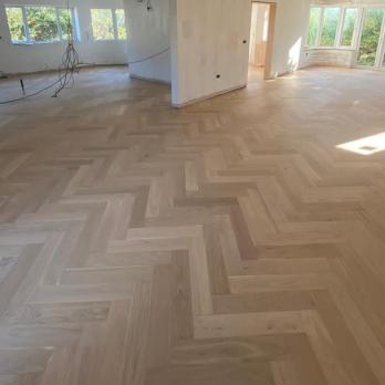 Large parquet flooring