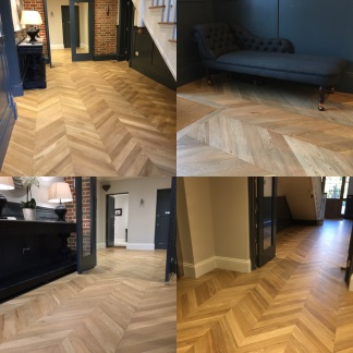 Engineered Chrevron wood flooring
