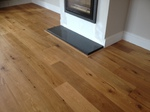 L bar fitted to hearth salisbury