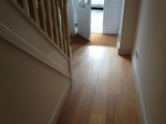 Engineered oak wood flooring with inset coir mat in Wilton