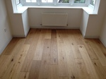 Rustic oak wooden floor fitted in Tisbury