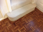 Parquet floor repairs - cork expansion strip replacement