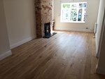 Engineered Oak brushed wood flooring installed in Salisbury