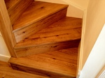 Stair cladding with wood flooring