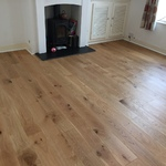 Brushed and oiled oak wood floring installed in Salisbury