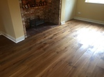 Smoked rustic aged oak wood flooring installed Charlton All Saints Salisbury