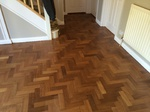 herringbone parquet mahogany sanding and repairs Pewsey