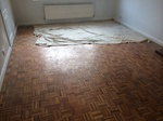 Parquet mosaic wooden floor sanding/restoration with repairs and refinishing Stockbridge