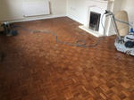Gap filling to parquet wood floor Shaftesbury