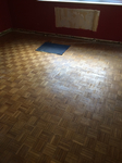 Oak parquet Mosaic sanding/repairs and refinishing - Wimborne