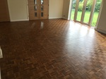 Sanding and refinishing parquet mosaic Lymington