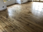Cracked oak engineered old flooring