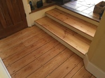 Floorboards and steps sanded and refinished in Andover by our highly skilled restoration team