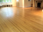 Oak floorboards sanded and sealed by our restoration team in Tidworth