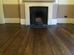 Old pine floor sanded and stained dark finished with Bona ultra matt lacquer in Westbury