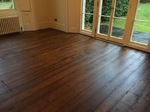 Pine floorboards refinished and made to look original