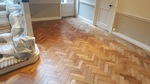 Old oak herringbone sanded and refinished in southampton