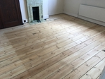 old Victorian pine floorboards sanded, repaired and sealed with Bona Traffic HD