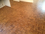 Mosaic parquet restored and refinished in Andover