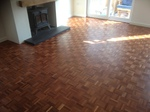 Parquet floor restoration - sanding and repairs carried out in Southampton area