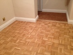 Oak parquet mosaic flooring sanded repaired and restored in Romsey