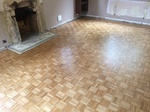 Parquet dust free sanding including repairs finished with Bona lacquer Ringwood