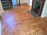 Pine herringbone parquet sanded and refinished Dorset