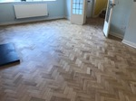 Oak Parquet floor restoration - extended - repaired - sanded and finished with Bona Traffic in Southampton